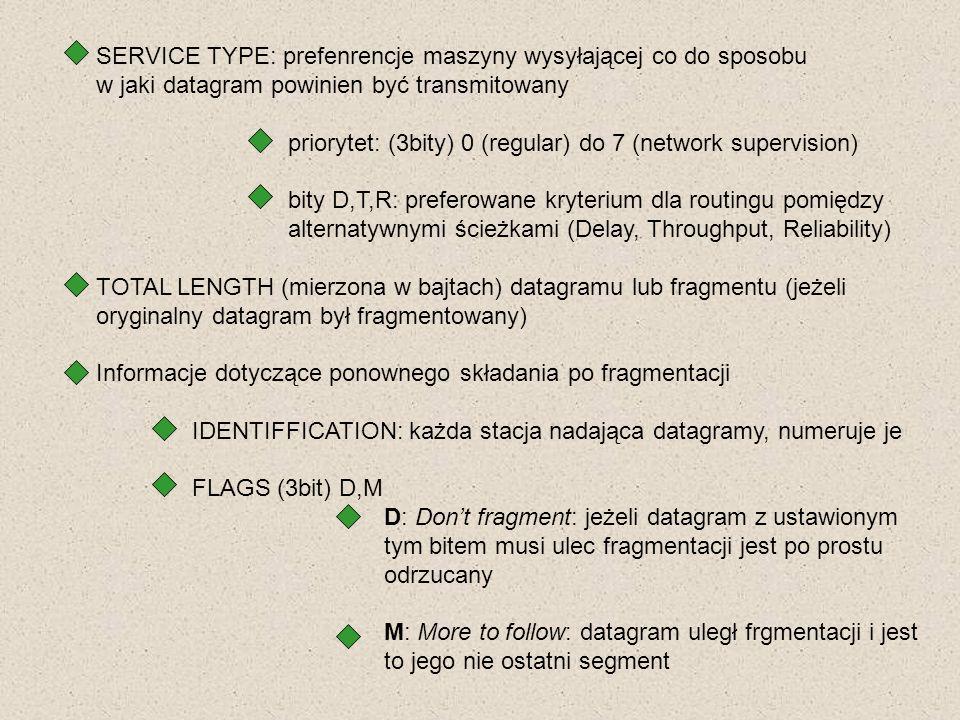 SERVICE TYPE: prefenrencje maszyny wysyłającej co do sposobu