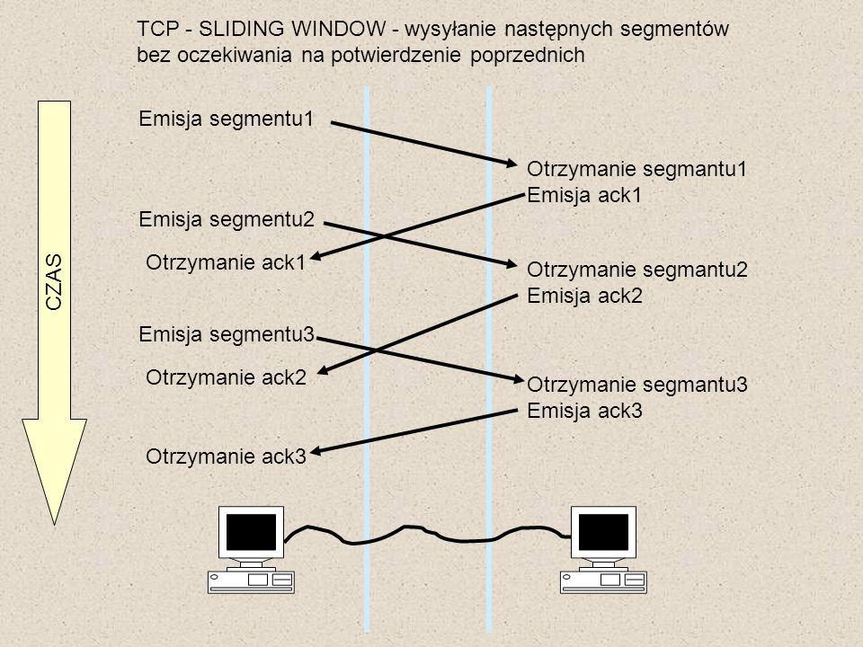 TCP - SLIDING WINDOW - wysyłanie następnych segmentów