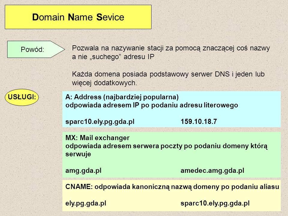 Domain Name Sevice Powód: