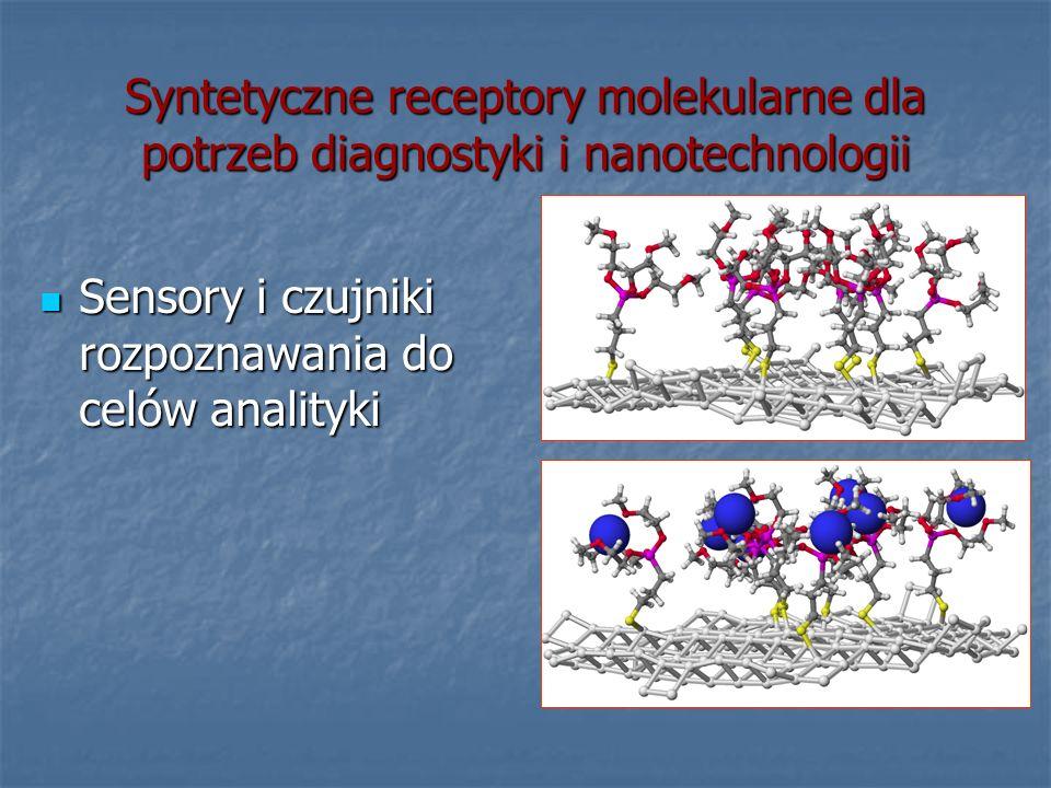 Syntetyczne receptory molekularne dla potrzeb diagnostyki i nanotechnologii