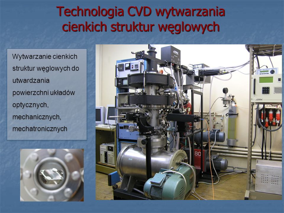 Technologia CVD wytwarzania cienkich struktur węglowych