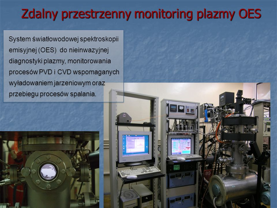 Zdalny przestrzenny monitoring plazmy OES