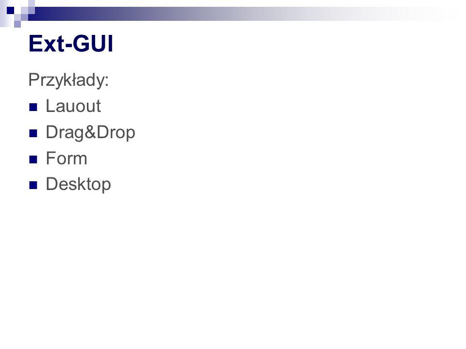 Ext-GUI Przykłady: Lauout Drag&Drop Form Desktop