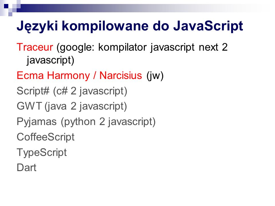 Języki kompilowane do JavaScript
