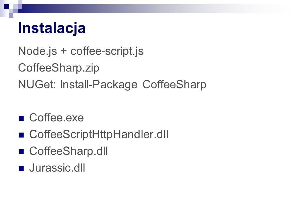 Instalacja Node.js + coffee-script.js CoffeeSharp.zip