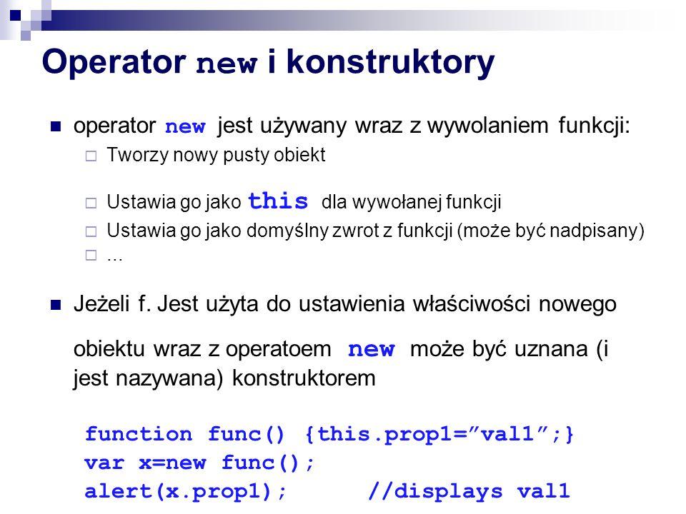 Operator new i konstruktory