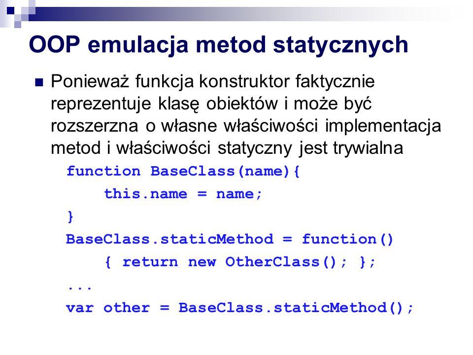 OOP emulacja metod statycznych