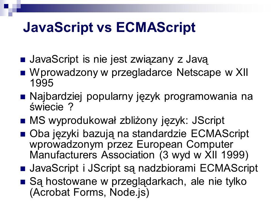 JavaScript vs ECMAScript
