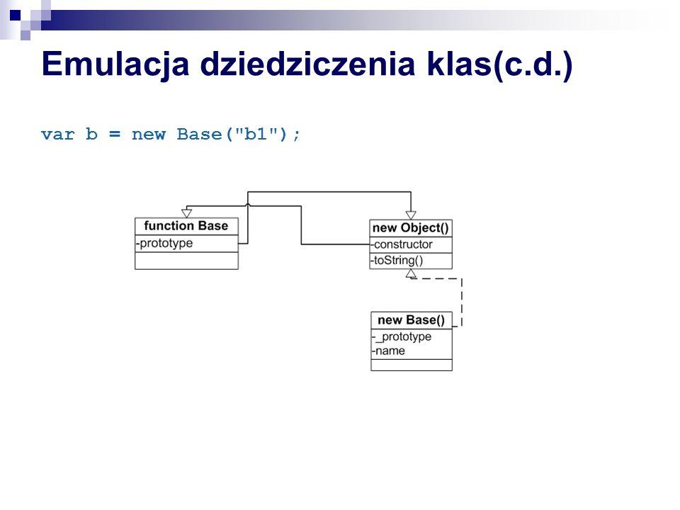 Emulacja dziedziczenia klas(c.d.)