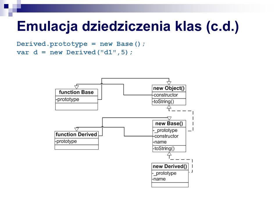 Emulacja dziedziczenia klas (c.d.)
