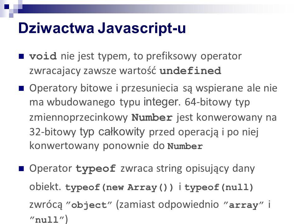 Dziwactwa Javascript-u
