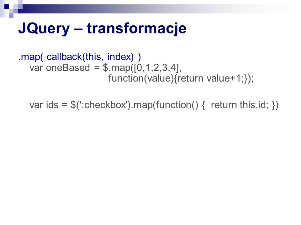 JQuery – transformacje