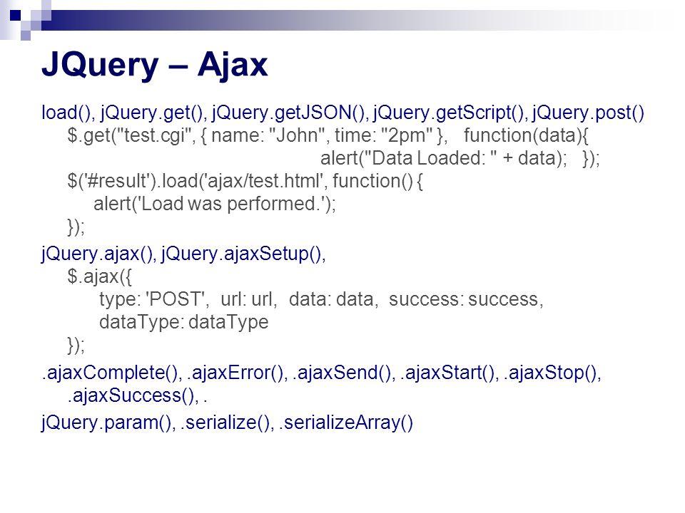 JQuery – Ajax
