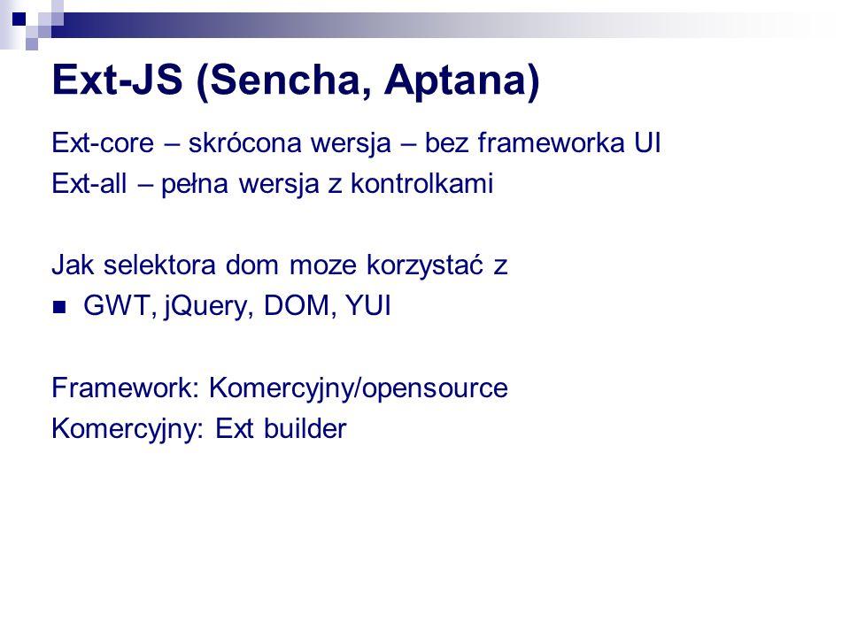 Ext-JS (Sencha, Aptana)