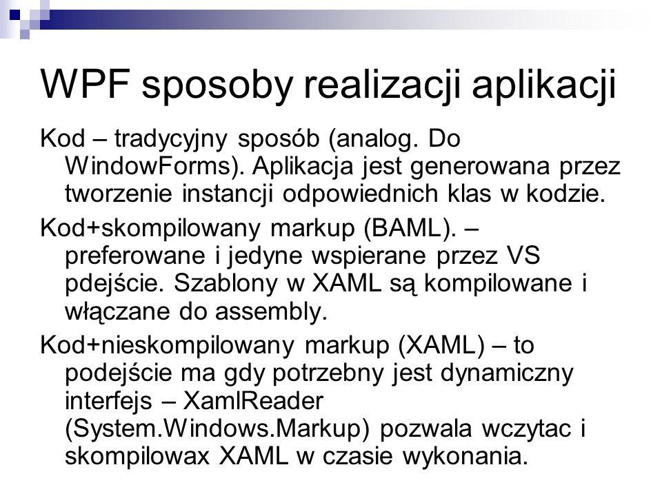 WPF sposoby realizacji aplikacji