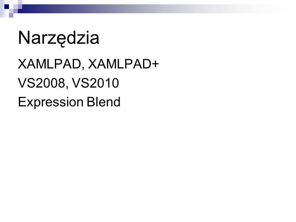 Narzędzia XAMLPAD, XAMLPAD+ VS2008, VS2010 Expression Blend