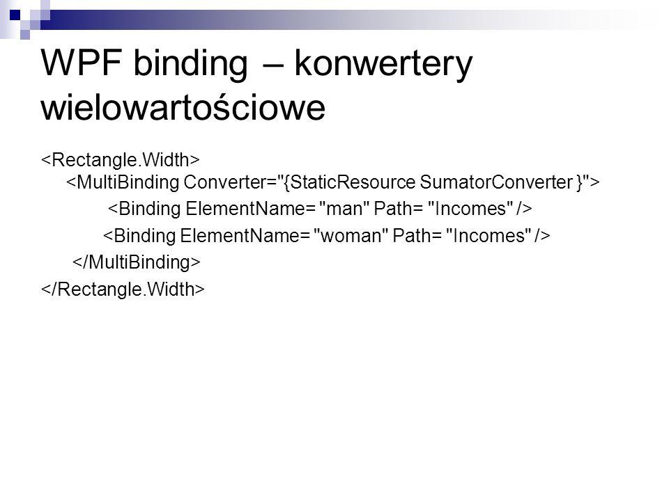 WPF binding – konwertery wielowartościowe
