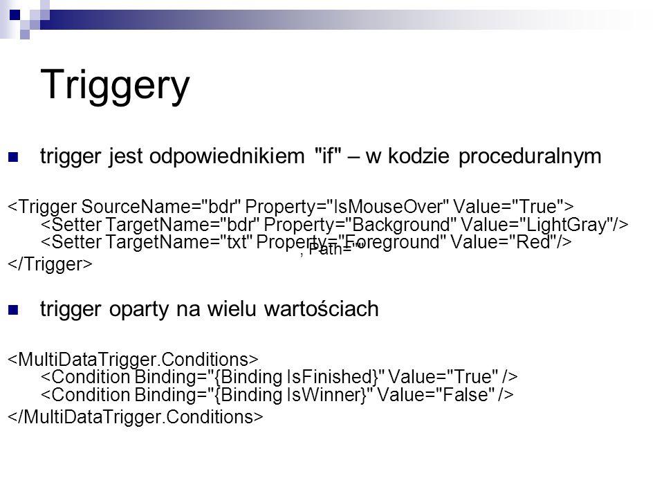 Triggery trigger jest odpowiednikiem if – w kodzie proceduralnym