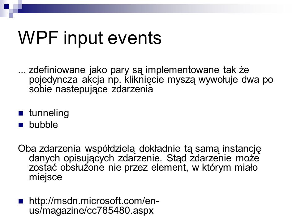 WPF input events