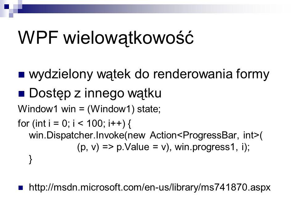 WPF wielowątkowość wydzielony wątek do renderowania formy