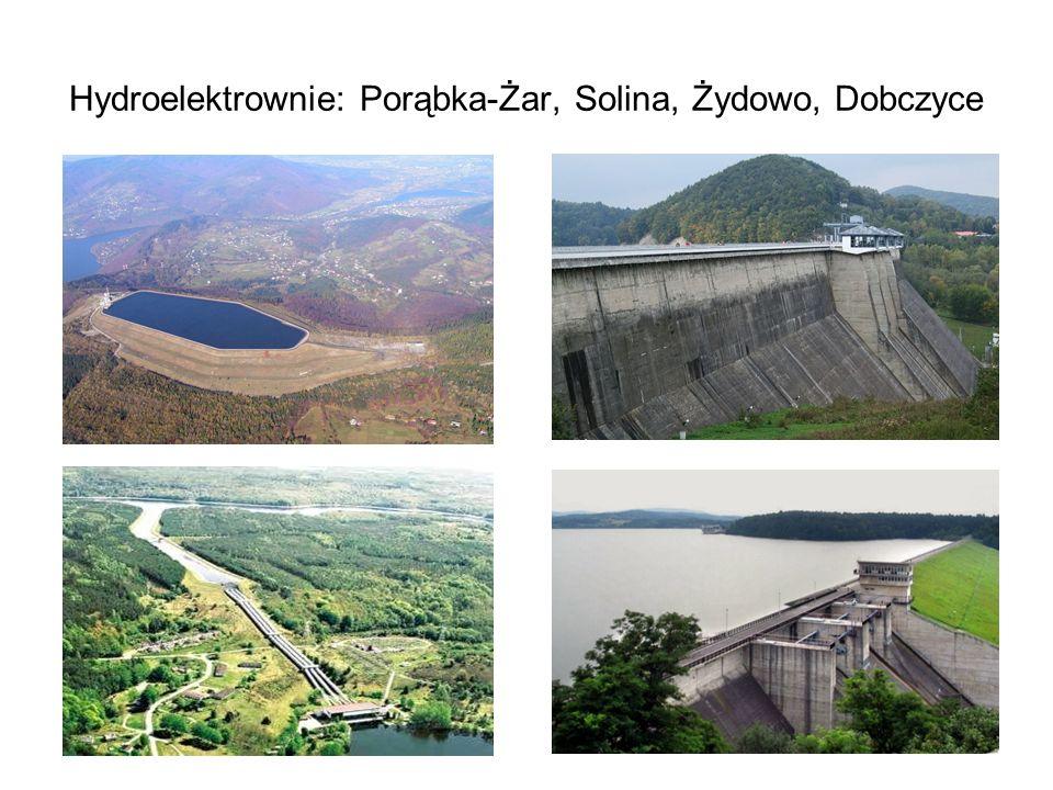 Hydroelektrownie: Porąbka-Żar, Solina, Żydowo, Dobczyce