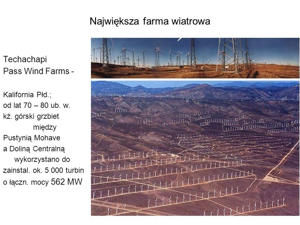 Największa farma wiatrowa