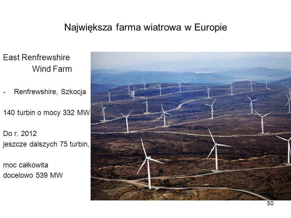 Największa farma wiatrowa w Europie