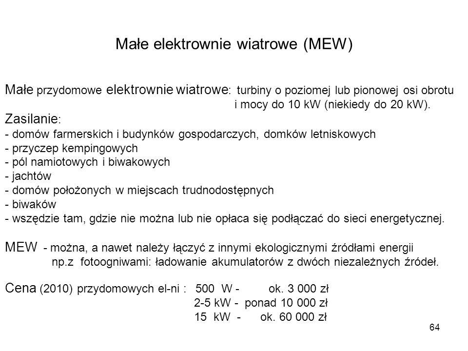 Małe elektrownie wiatrowe (MEW)