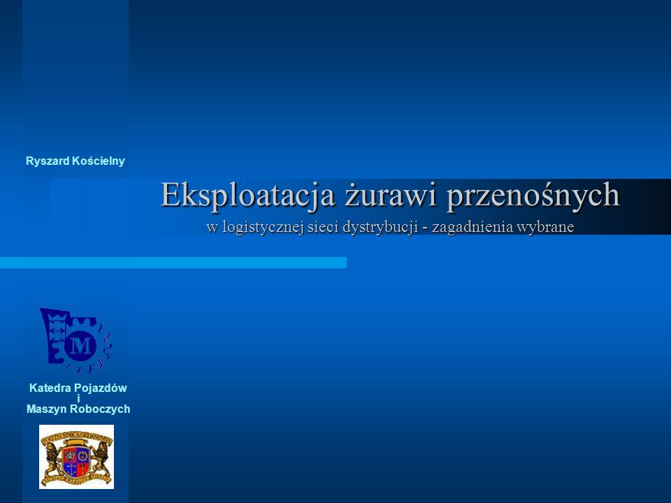 Ryszard Kościelny Eksploatacja żurawi przenośnych w logistycznej sieci dystrybucji - zagadnienia wybrane.