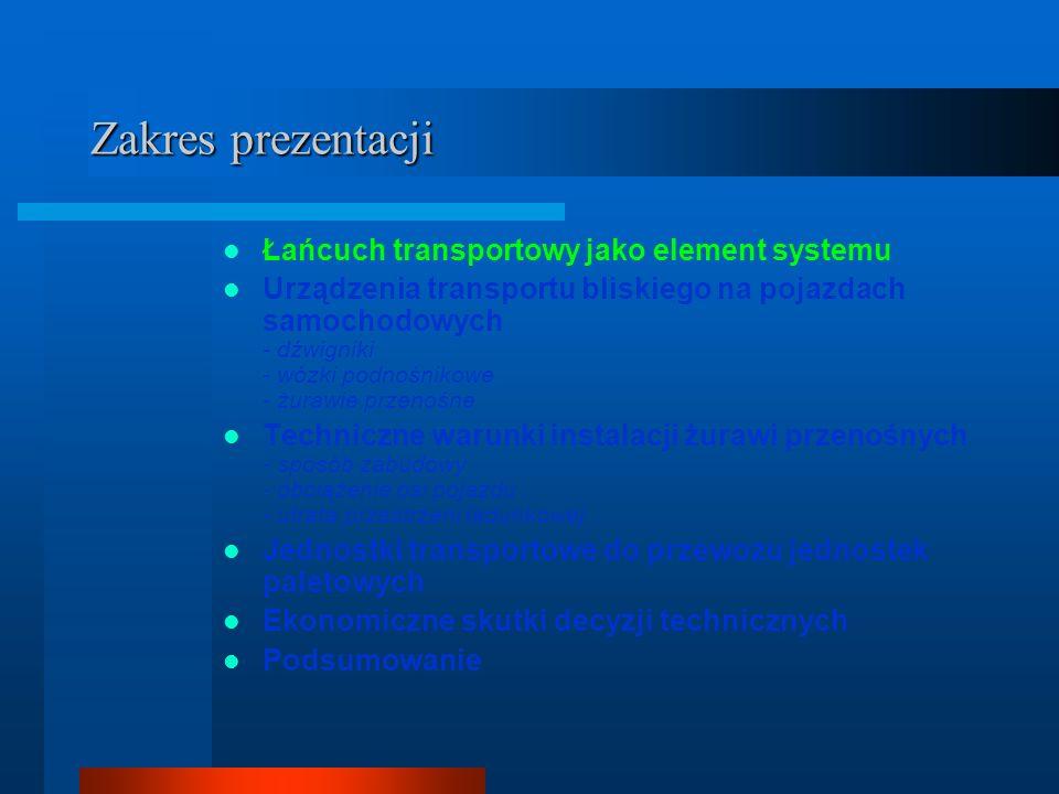 Zakres prezentacji Łańcuch transportowy jako element systemu