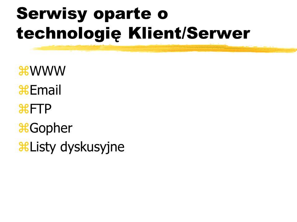Serwisy oparte o technologię Klient/Serwer