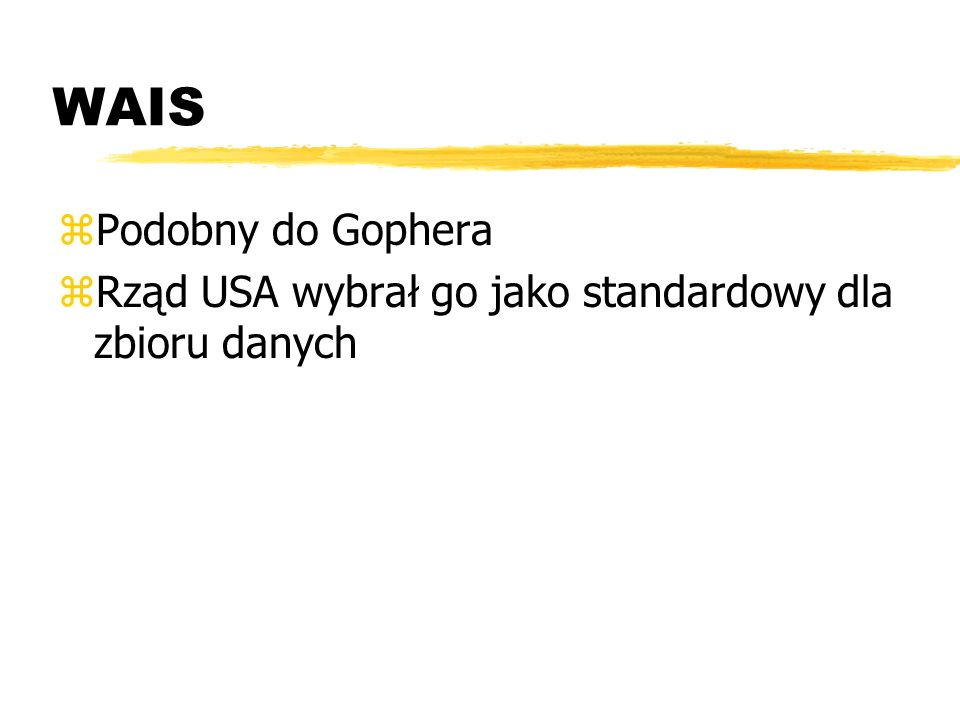 WAIS Podobny do Gophera
