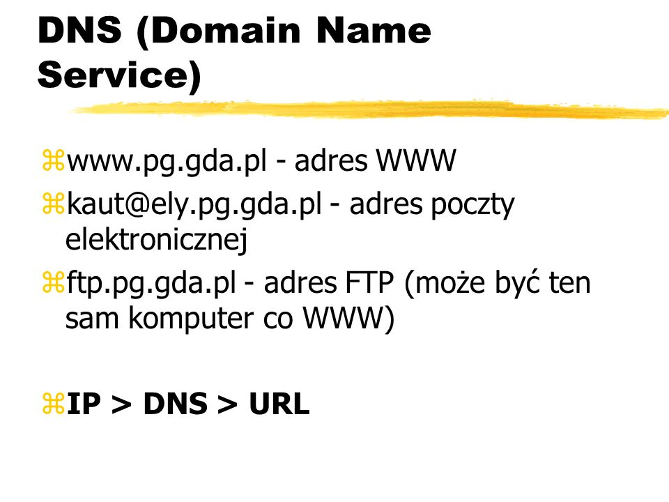 DNS (Domain Name Service)