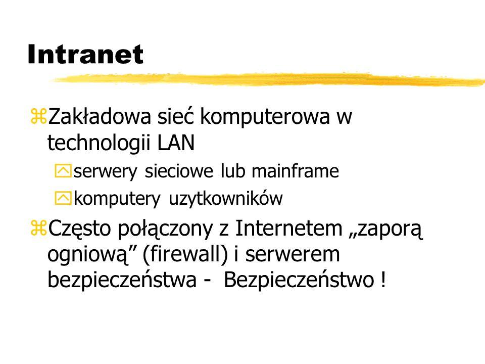 Intranet Zakładowa sieć komputerowa w technologii LAN