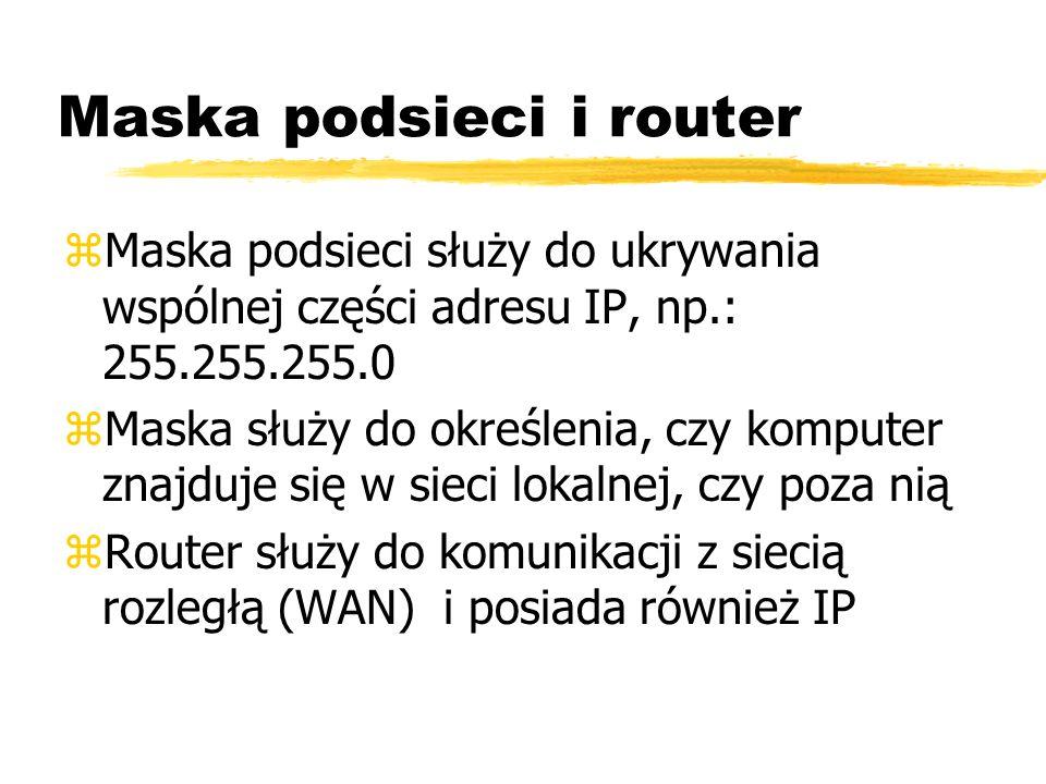 Maska podsieci i router