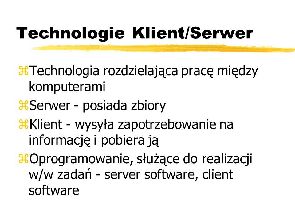 Technologie Klient/Serwer