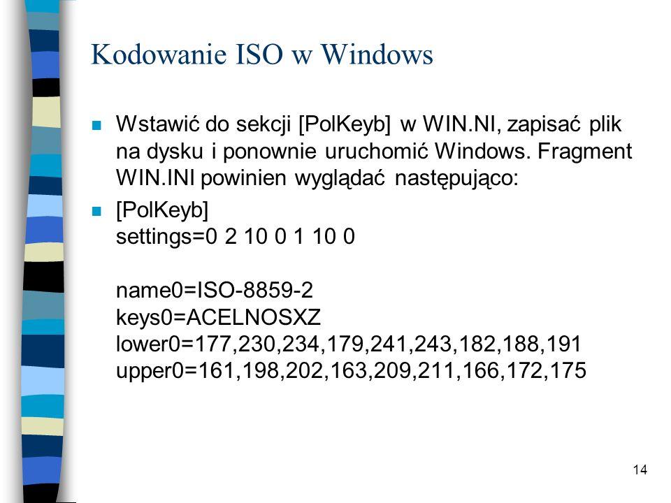 Kodowanie ISO w Windows