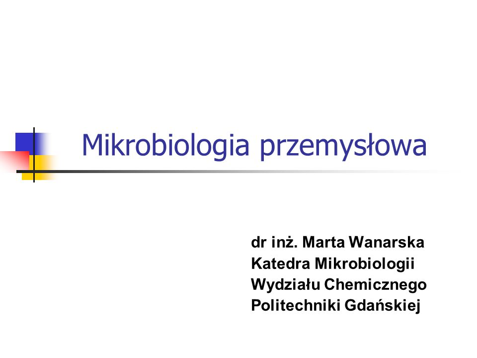 Mikrobiologia przemysłowa