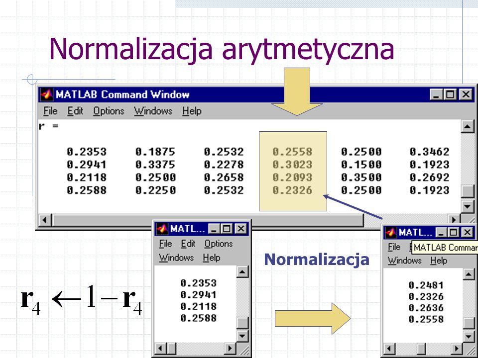 Normalizacja arytmetyczna