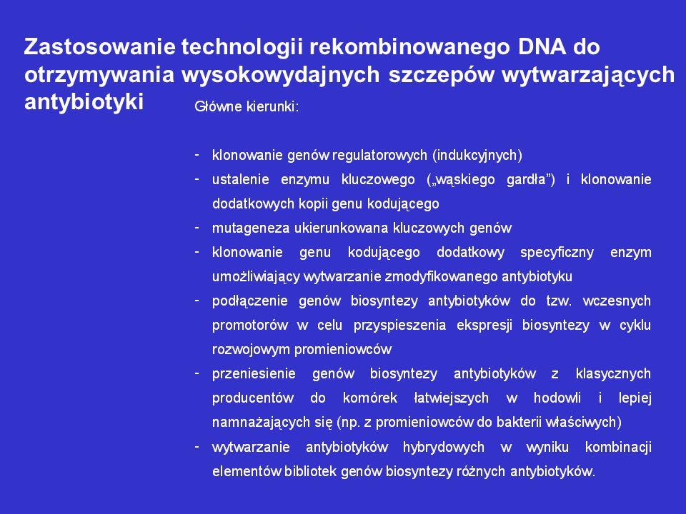 Zastosowanie technologii rekombinowanego DNA do