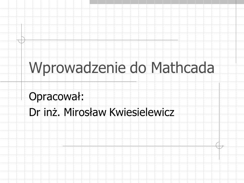 Wprowadzenie do Mathcada