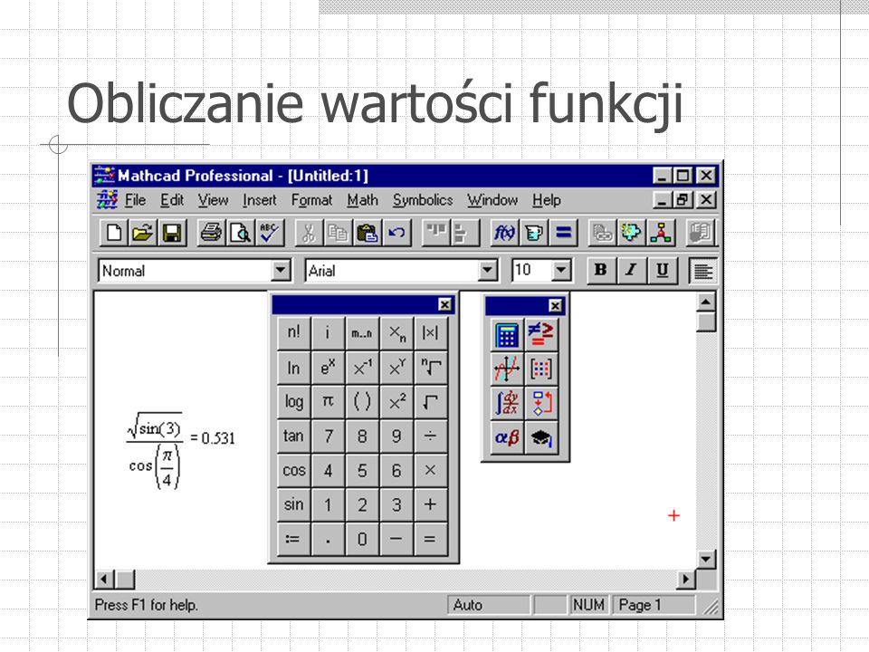 Obliczanie wartości funkcji