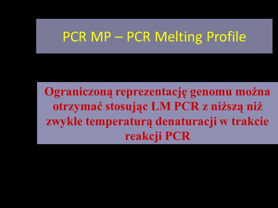 PCR MP – PCR Melting Profile
