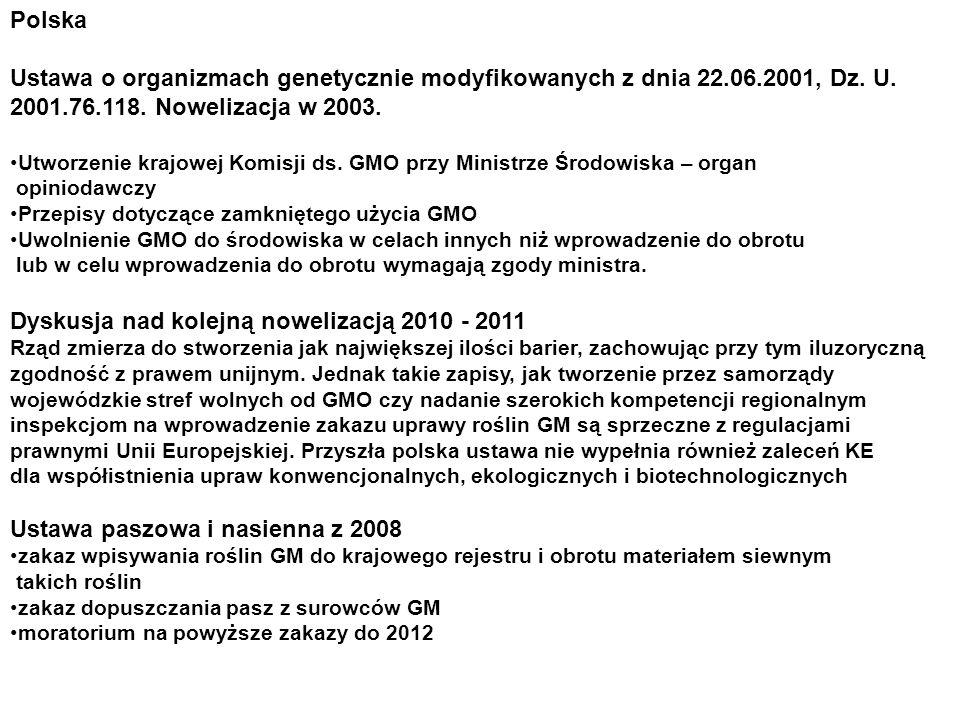 Dyskusja nad kolejną nowelizacją 2010 - 2011