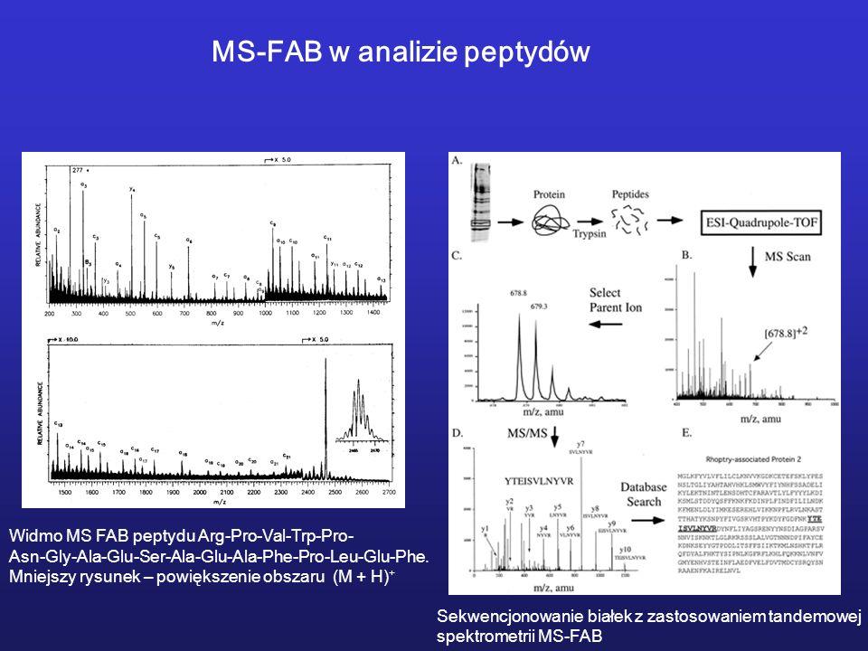 MS-FAB w analizie peptydów