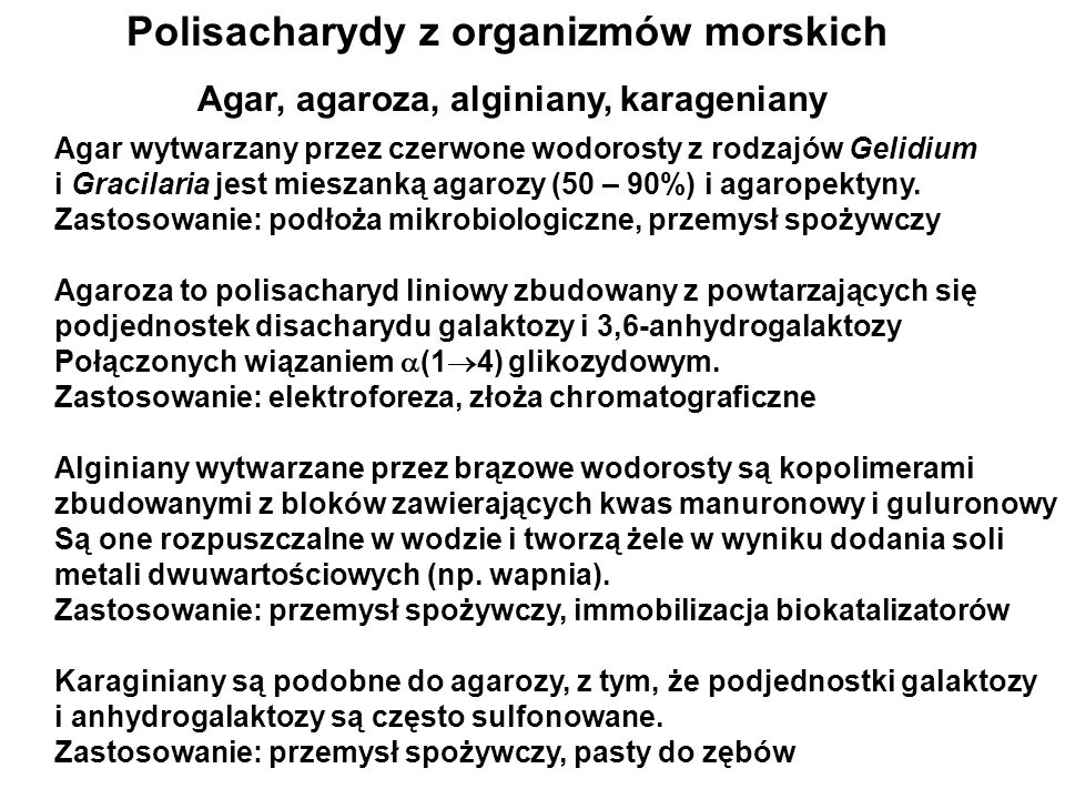 Polisacharydy z organizmów morskich