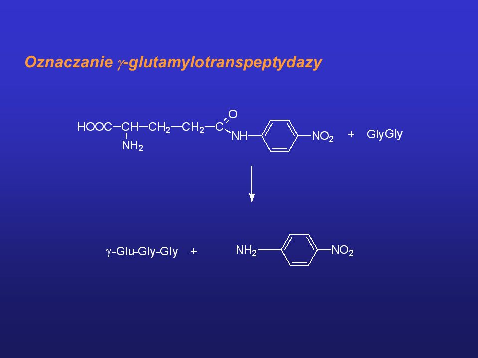 Oznaczanie -glutamylotranspeptydazy