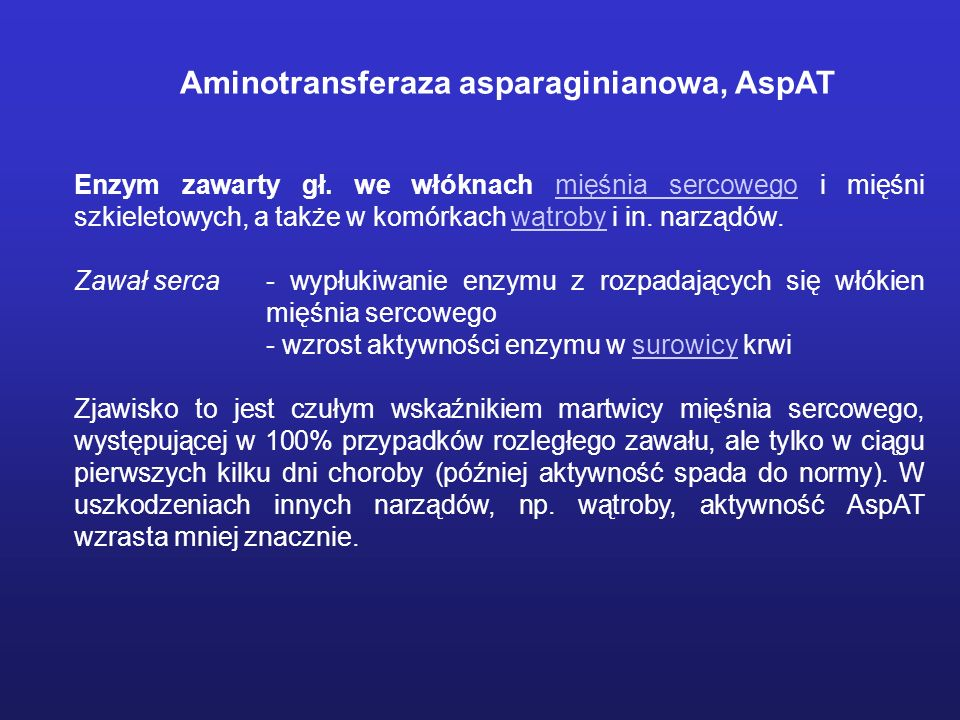 Aminotransferaza asparaginianowa, AspAT