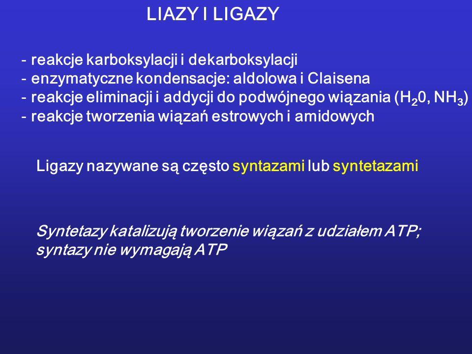 LIAZY I LIGAZY reakcje karboksylacji i dekarboksylacji