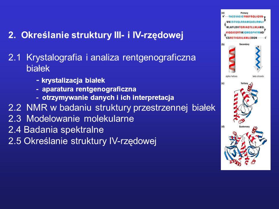 2. Określanie struktury III- i IV-rzędowej